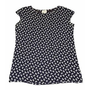 Valentino Navy Print SS Blouse Made in Italy 12